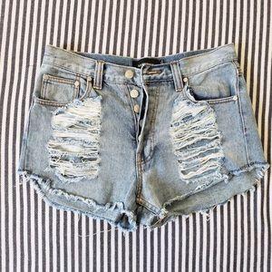 """Mink Pink """"Slasher"""" Denim Shorts"""